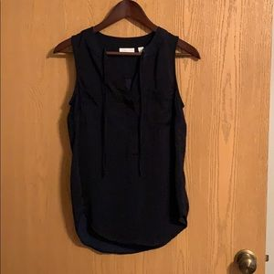 NWOT Navy New York and Co tank blouse